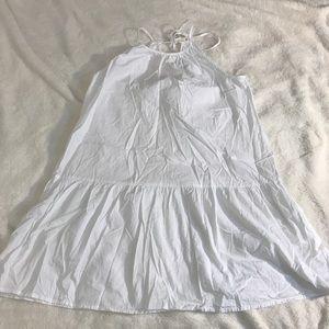 Asos halter dress drop waist white 6